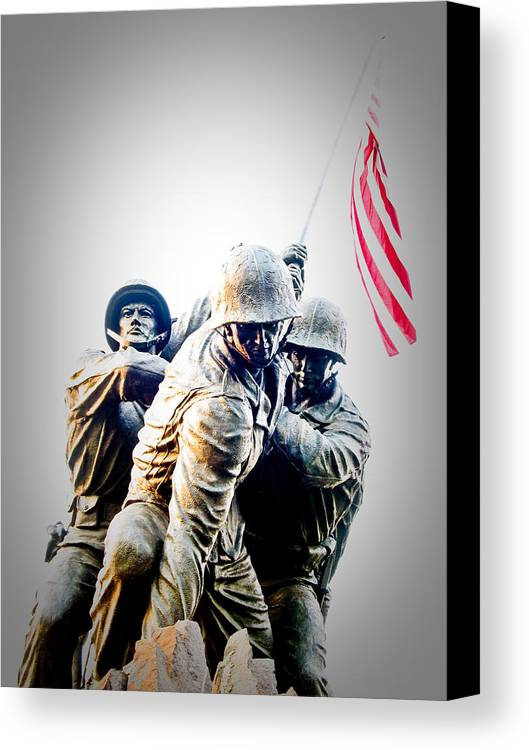 Iwo Jima Memorial Canvas Print featuring the photograph Heroes by Julie Niemela