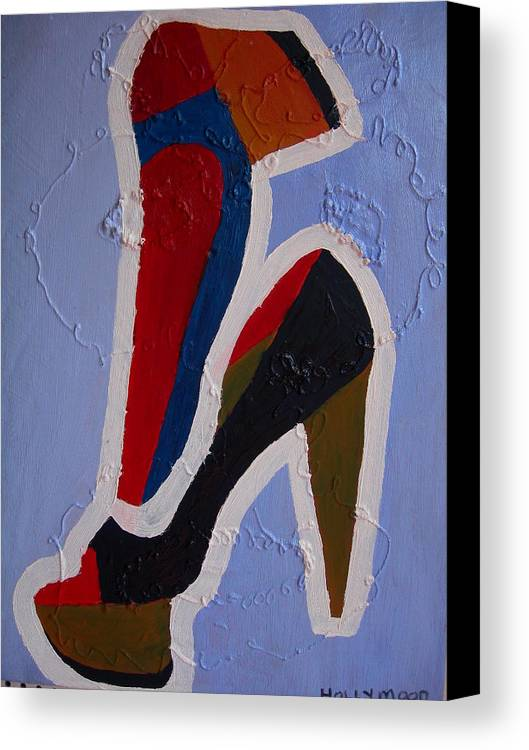 Shoes Canvas Print featuring the painting Hi Heels by Heinrich Haasbroek