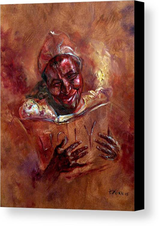 Women Canvas Print featuring the painting His Word My Joy by Tommy Winn