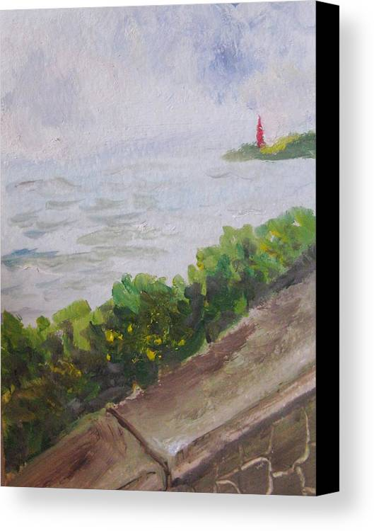 Oil Canvas Print featuring the painting Hope - In Rough Times by Trilby Cole
