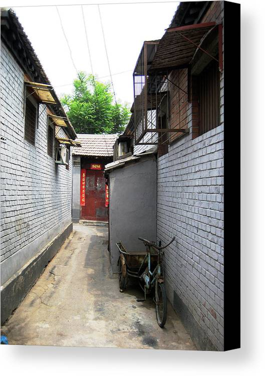 Houtong Canvas Print featuring the photograph Houtong Street by Angela Siener