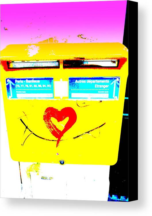 Love Canvas Print featuring the photograph I Love You ... French Mailbox Style by Funkpix Photo Hunter