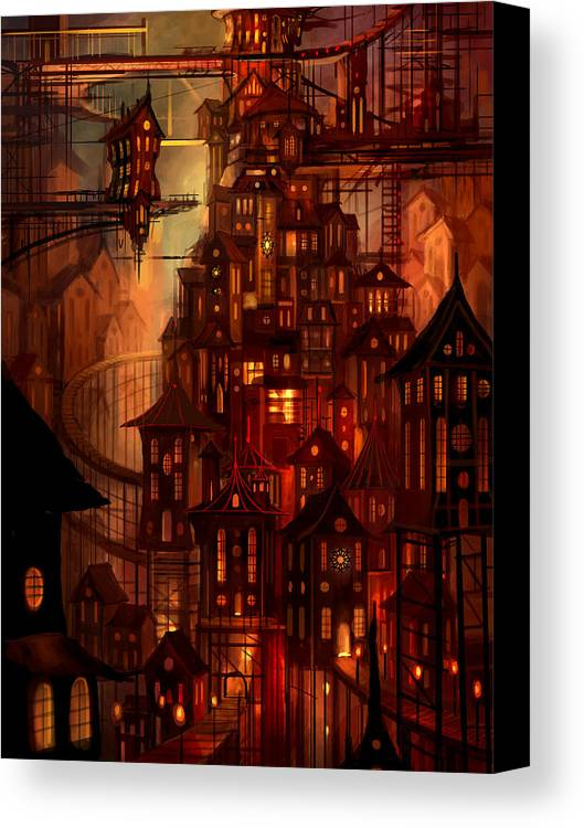 Surreal Canvas Print featuring the painting Illuminations by Philip Straub