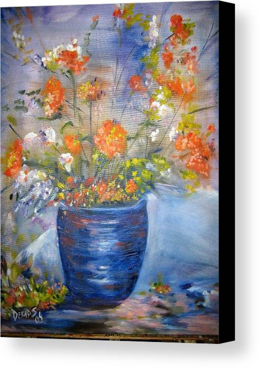 Still Life Canvas Print featuring the painting Indigo by Impressionist FineArtist Tucker Demps Collection