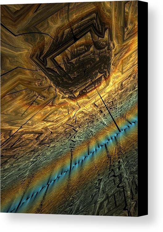 Fractal Canvas Print featuring the digital art Innerspatial Flight by Ian Duncan Anderson