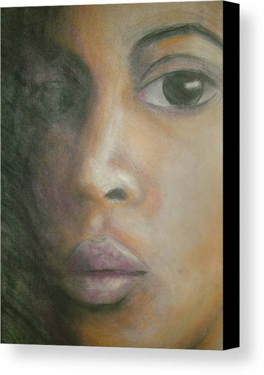 Canvas Print featuring the drawing Inside The Soul by Jan Gilmore