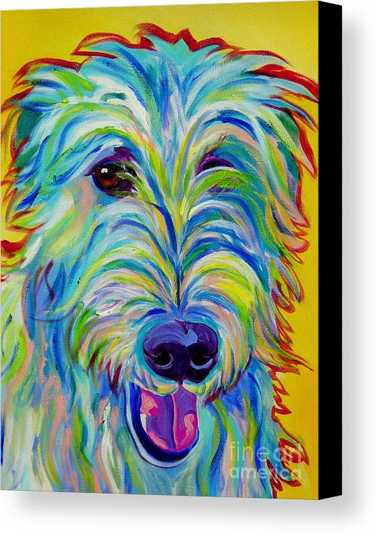 Dog Canvas Print featuring the painting Irish Wolfhound - Angus by Alicia VanNoy Call