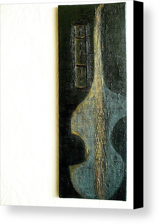 Painting Canvas Print featuring the painting Jazz by Radulescu Adriana Lucia