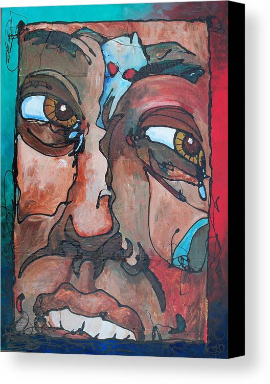 Abstract Canvas Print featuring the painting Jealousy To Wrath Road by Ernie Scott- Dust Rising Studios