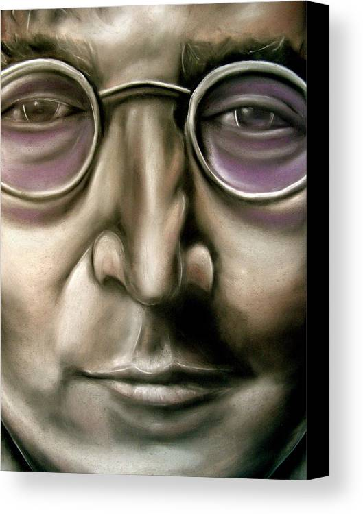 John Canvas Print featuring the drawing John Lennon by Zach Zwagil