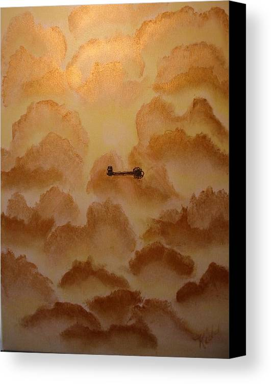 Gold Canvas Print featuring the painting Keys To The Kingdom by Laurie Kidd