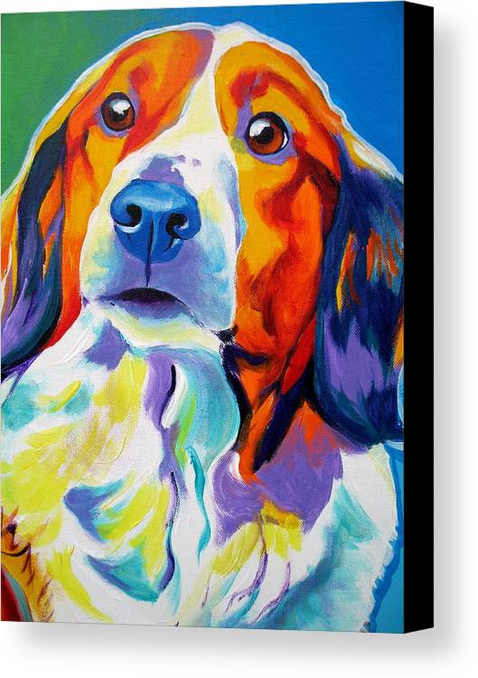 Dog Canvas Print featuring the painting Kooiker - Dakota by Alicia VanNoy Call