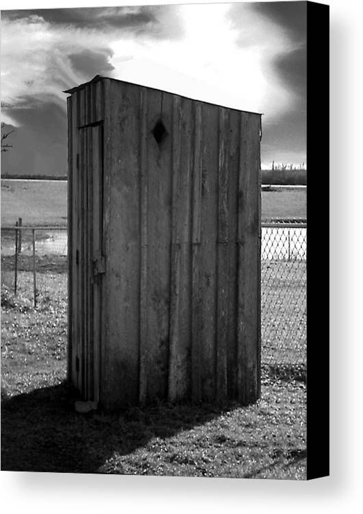 Ansel Adams Canvas Print featuring the photograph Koyl Cemetery Outhouse5 by Curtis J Neeley Jr