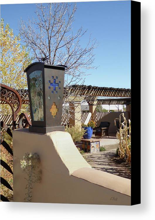 Historic Canvas Print featuring the photograph La Posada Accents by Gordon Beck