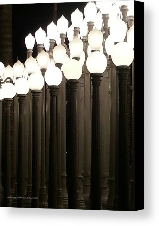 Lacma Canvas Print featuring the photograph Lacma Lights 4 by Christine McCole