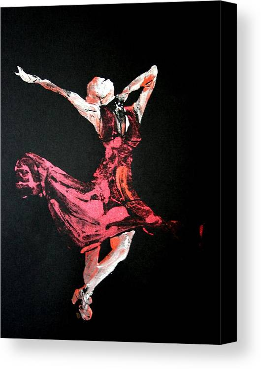 Lady In Red Canvas Print featuring the painting Lady In Red by Ana Bikic