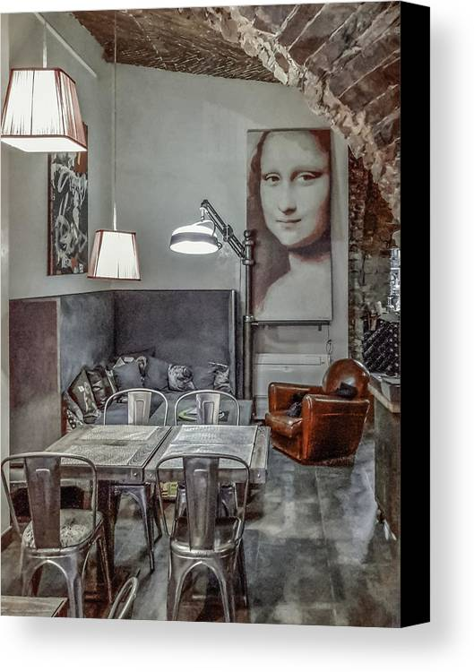 Bastia Canvas Print featuring the photograph Lunch With A Smile by Jim Collier