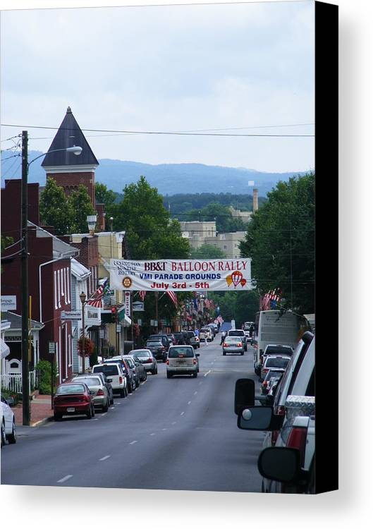Lexington Canvas Print featuring the photograph Lexington Va In July by Eddie Armstrong