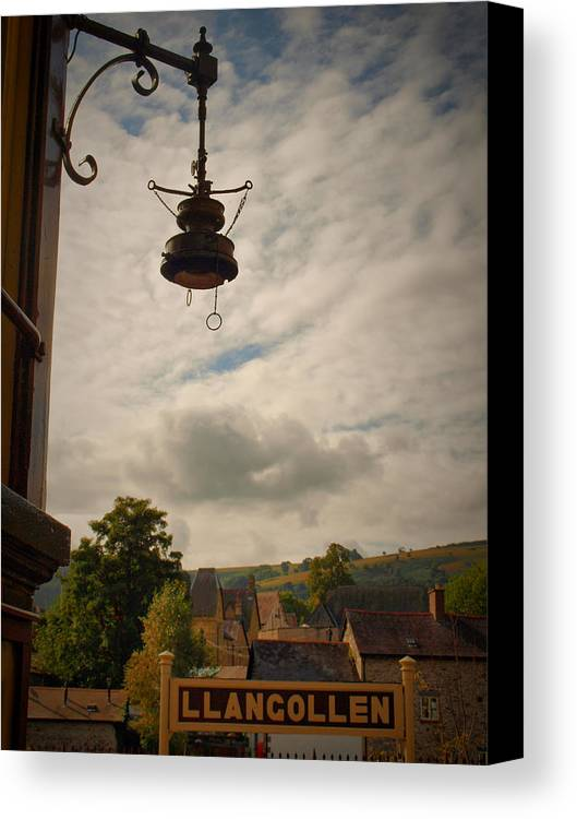 History Canvas Print featuring the photograph Llangollen Station by Michaela Perryman