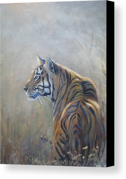 Animal Life Canvas Print featuring the sculpture Look Out by Todd Gates