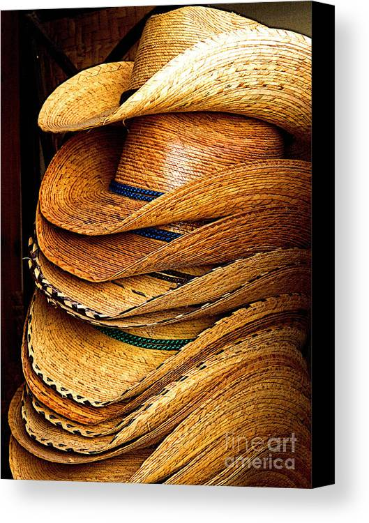 Tlaquepaque Canvas Print featuring the photograph Lots Of Hats by Mexicolors Art Photography