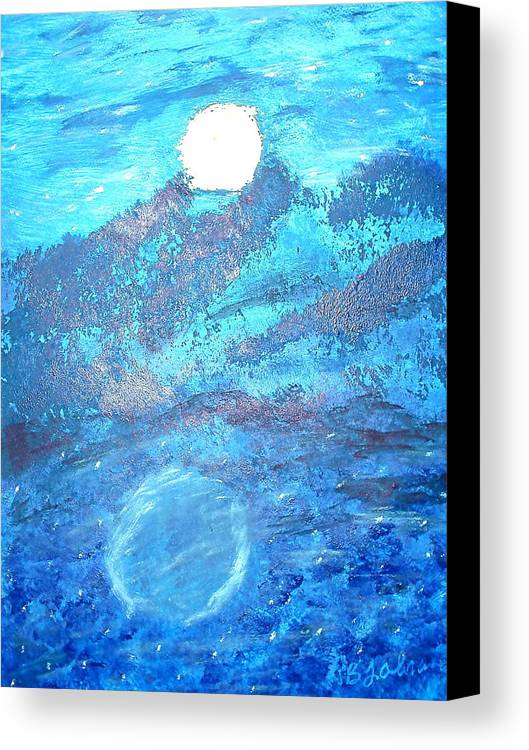 Acrylic Canvas Print featuring the painting Lover's Moon by BJ Abrams