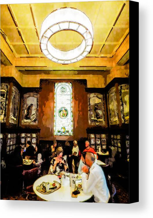 Architecture Canvas Print featuring the digital art Luncheon Trays by Steve Taylor