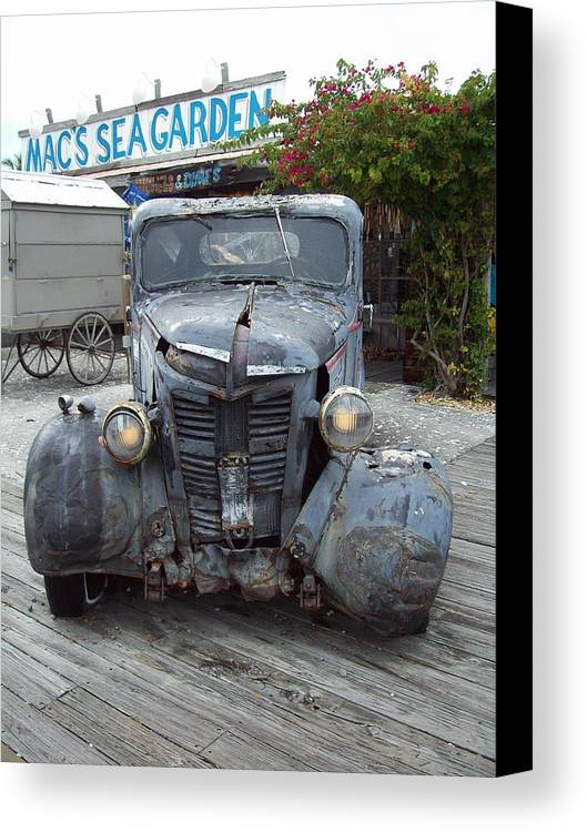 Truck Canvas Print featuring the photograph Mac's Sea Garden by Nancy Taylor
