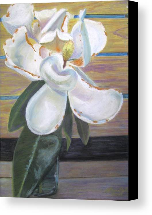 Flowers Canvas Print featuring the painting Magnolia by Gloria Byler