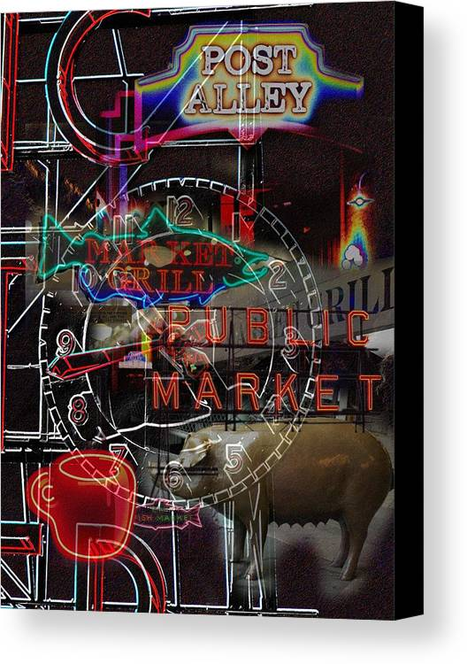 Seattle Canvas Print featuring the photograph Market Medley by Tim Allen