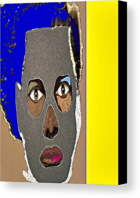 Mask Canvas Print featuring the painting Mask 9 by Noredin Morgan
