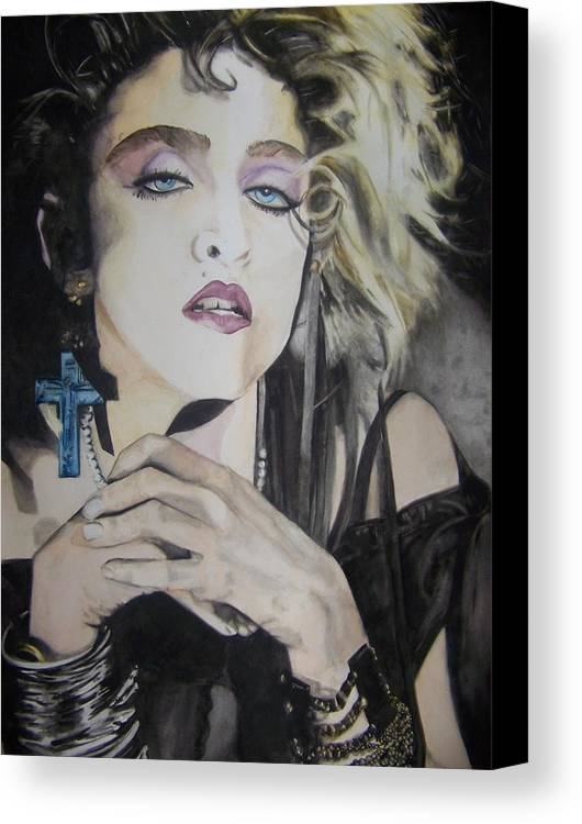 Madonna Canvas Print featuring the painting Material Girl by Lance Gebhardt