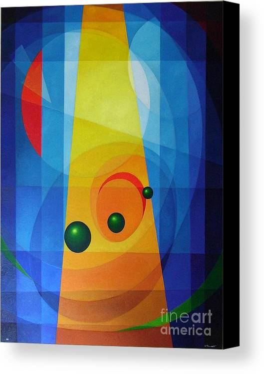 Geometric Abstract Canvas Print featuring the painting Maternity by Alberto DAssumpcao