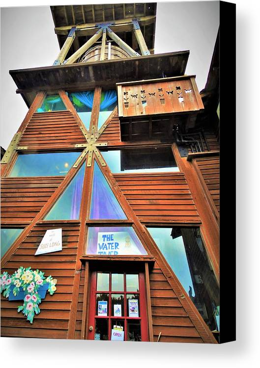 Mendocino Canvas Print featuring the photograph Mendocino Water Tower by Lisa Dunn