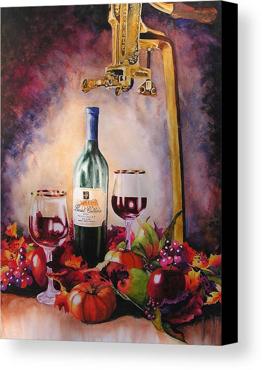 Wine Canvas Print featuring the painting Merriment by Karen Stark