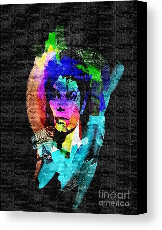 Michael Jackson Canvas Print featuring the digital art Michael Jackson by Mo T