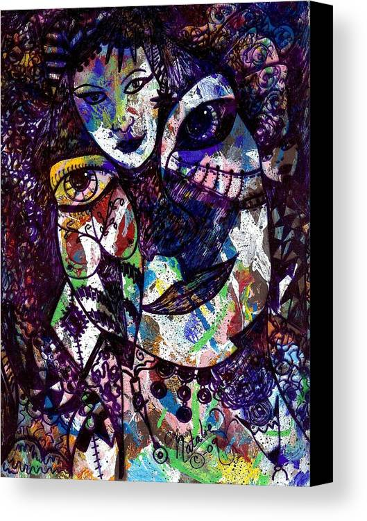 Female Canvas Print featuring the painting Mind Reader by Natalie Holland