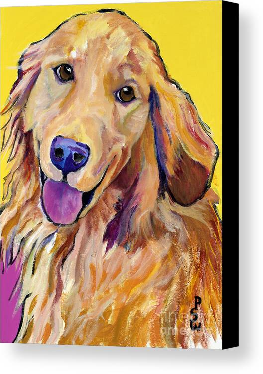 Acrylic Paintings Canvas Print featuring the painting Molly by Pat Saunders-White