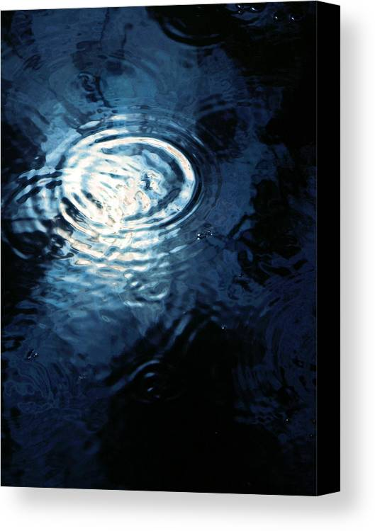 Moon Canvas Print featuring the photograph Moon In The Water by Francesa Miller