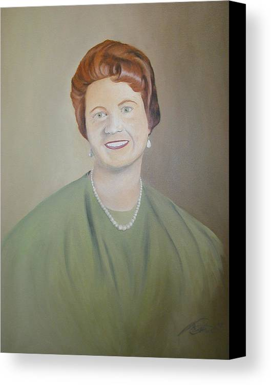 Portrait Canvas Print featuring the painting Ms. Bryant by Angelo Thomas