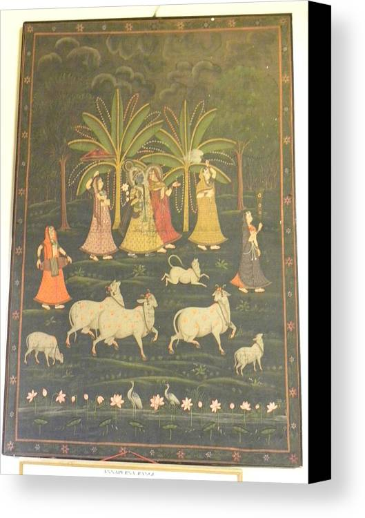 Tradional India Art Canvas Print featuring the painting NA by Untitled