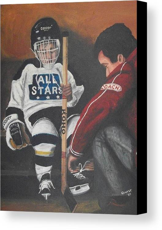 Boy Canvas Print featuring the painting Nice And Tight by Ron Genest