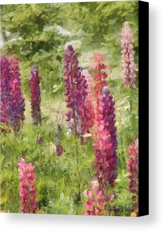 Nova Scotia Canvas Print featuring the painting Nova Scotia Lupine Flowers by Jeffrey Kolker