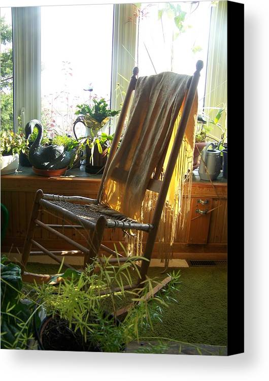 Rocking Chair Canvas Print featuring the photograph Off My Rocker - Photograph by Jackie Mueller-Jones
