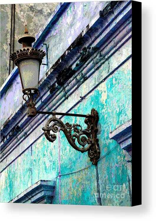 Darian Day Canvas Print featuring the photograph Old Street Lamp By Darian Day by Mexicolors Art Photography
