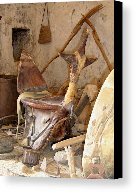 Nature Canvas Print featuring the photograph Old Tradtional Libyan Tools by Abdussalam Nattah