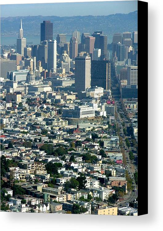 City Scape Canvas Print featuring the photograph On A Clear Day You Can See Forever by Donna Thomas