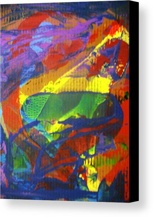 Abstract Canvas Print featuring the painting Once Was by Bruce Combs - REACH BEYOND