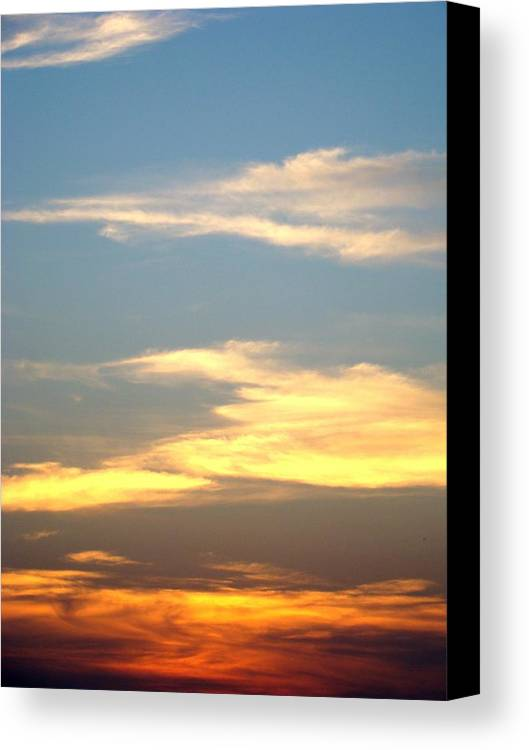 Sunset Canvas Print featuring the photograph Painted Sky by Ana Villaronga