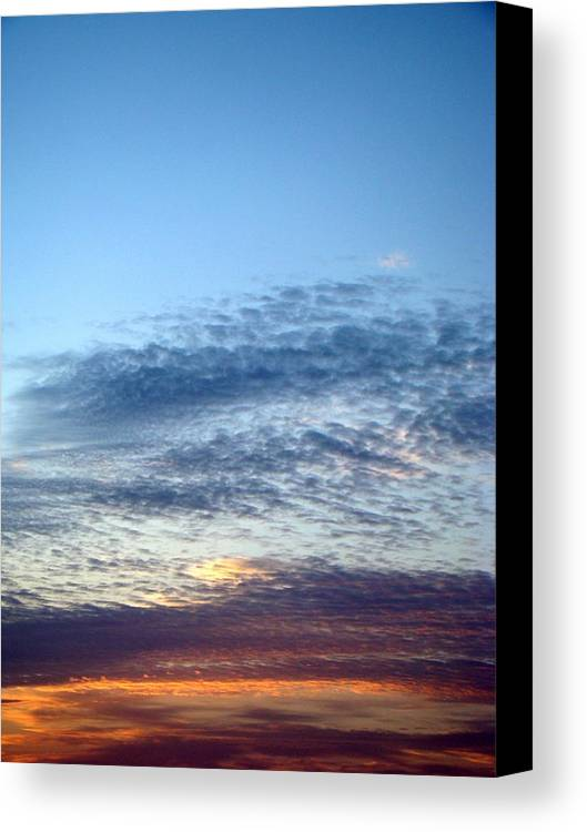 Sky Canvas Print featuring the photograph Painted Sky Six by Ana Villaronga